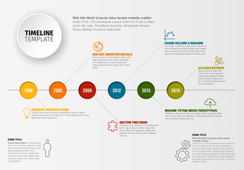Colorful Circles Timeline Infographic Layout