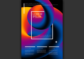 Poster Layout with Colorful 3D Tube Element