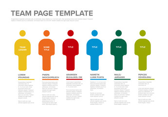 Team Infographic Layout with People Illustrations