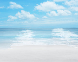 sunny summer beach background 3d-illustration