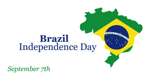 Brazil Independence Day greeting card. September 7. Vector illustration. Design concept banner, card.