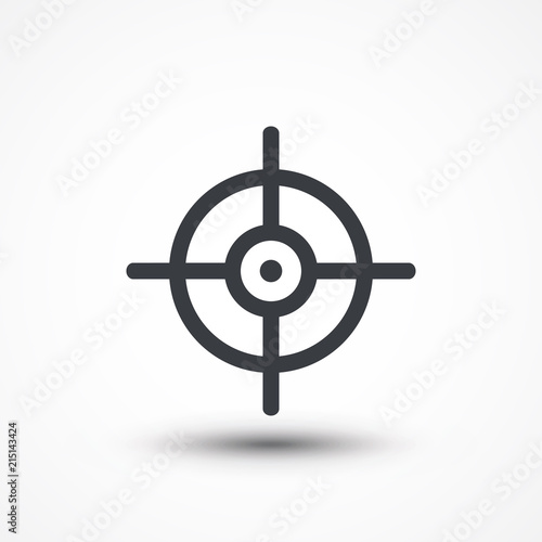Symbol Of Crosshair In Infographics Style Gun Target Icon Stock