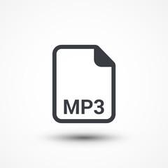 MP3 audio file extension icon