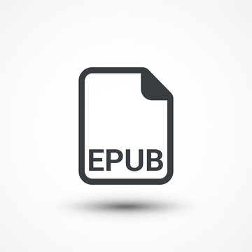 EPUB ebook file extension icon