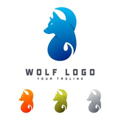 Abstract Wolf Logo Design Template , Design Vector illustration