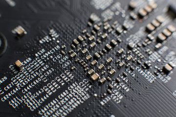 Сomputer board, motherboard, video card, electronic background