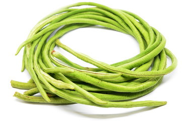 Bunch of fresh long bean isolated