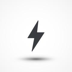 Flash icon. Bolt of lightning. Lightning illustration. Streak of lightning sign. Electric bolt flash icon. Lightning design element. Thunder strike logo. Charge flash icon. Thunderbolt icon