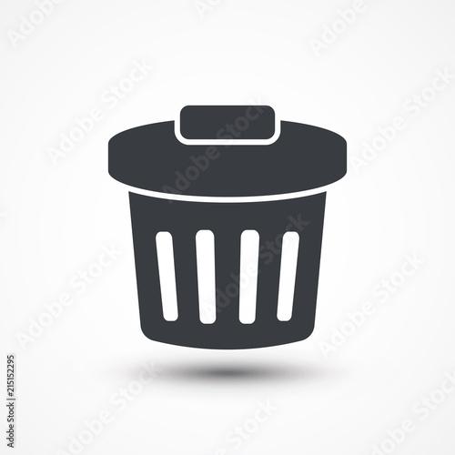 Trash Bin Icon Dustbin Garbage Can Recycle Bin Rubbish Bin