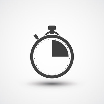 Stopwatch icon. Timer icon. Chronometer sport. Timekeeper. Chronoscope. Time check. Seconds timer, seconds counter, stopwatch timer icon. Timing device. Timer quarter icon 15 sec, min Check in counter