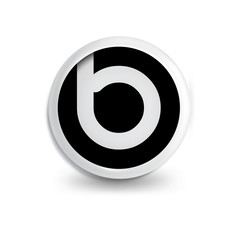 b Letter in circle icon logo element. letter logo template