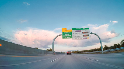 Wall Mural - Highway driving