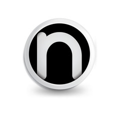 n Letter in circle icon logo element. letter logo template