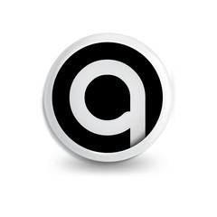 q Letter in circle icon logo element. letter logo template