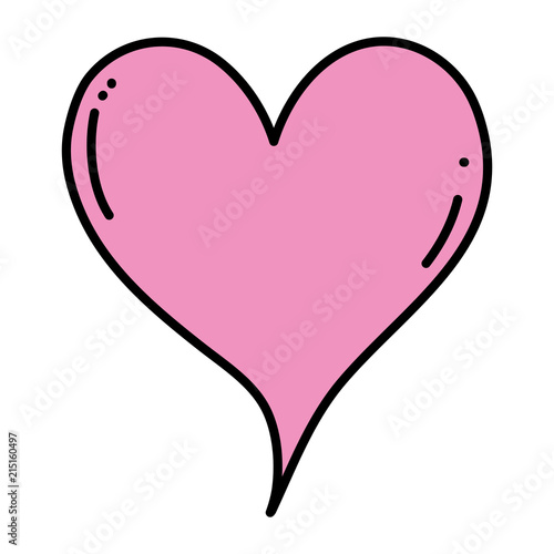 Color Cute Heart Love Symbol Icon Stock Image And Royalty Free