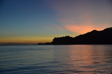 Sunrise over the enclave of Oecussi, part of the Republic of Timor Leste (East Timor).