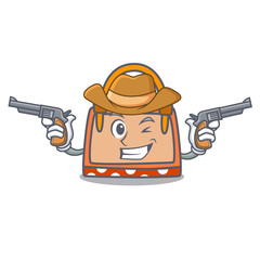 Cowboy hand bag character cartoon