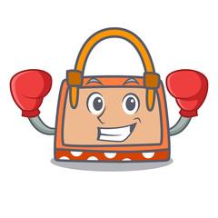 Boxing hand bag character cartoon