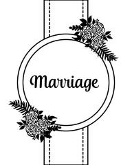 Vintage marriage invitation floral design vector illustration