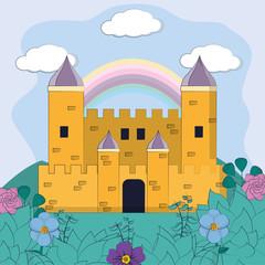 Magic castle cartoon