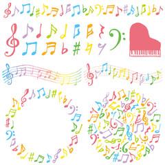 音楽 広告 装飾 カラフル