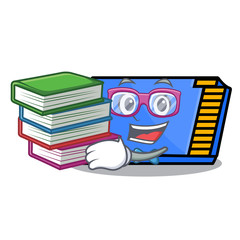 Student with book memory card mascot cartoon