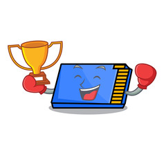 Boxing winner memory card mascot cartoon
