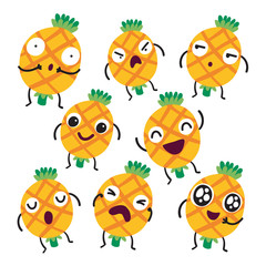 pineapple character vector design
