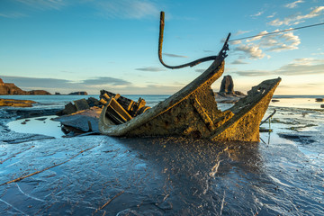 Admiral Von Tromp Shipwreck at Saltwick Bay, North Yorkshire.
