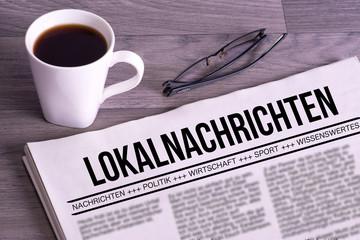 Eine Zeitung mit dem Namen Lokalnachrichten