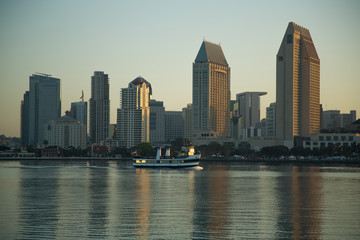 Printed roller blinds Shanghai View of the San Diego doutown from Coronado Island