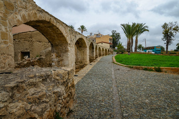 Nicosia, 22 march 2017 - old water supply aqueduct is located in Nicosia, the capital of Cyprus and is the oldest aqueduct in Cyprus