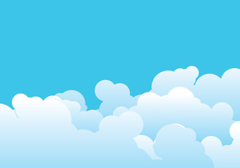 Cloud template vector illustration