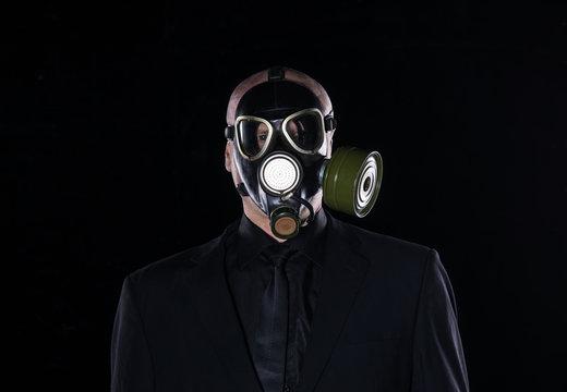 man in a fetish mask