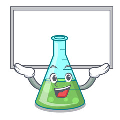 Up board science beaker character cartoon