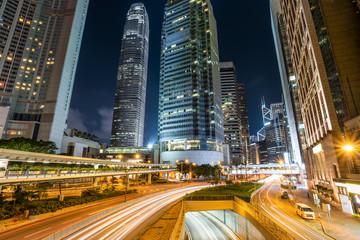 The prosperous night scene in Hongkong Central