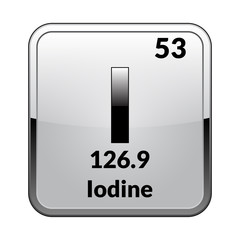 The periodic table element Iodine.Vector.