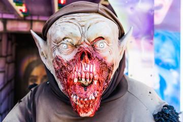 Fear and Halloween theme: Halloween Horror Demon Mask.