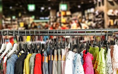Clothes and shop interior