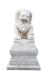 Chinese lion metal statue