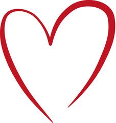 Ein rotes Herz - Symbol der Liebe, Hochzeit, Heirat, Taufe, Trauung