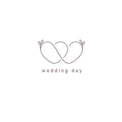 Vector logo design template. Wedding symbol concept.