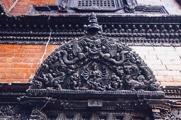 Kathmandu, Nepal - February 8, 2017: The Palace of the living goddess Royal Kumari