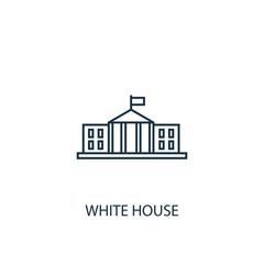 White house concept line icon. Simple element illustration