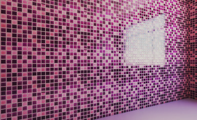 Empty  Modern bathroom. 3D rendering.