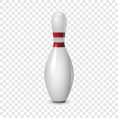 Bowling icon. Realistic illustration of bowling vector icon for on transparent background
