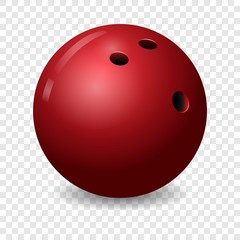 Bowling ball icon. Realistic illustration of bowling ball vector icon for on transparent background