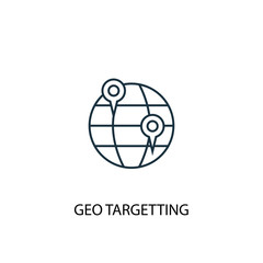 Geo Targetting line icon. Simple element illustration