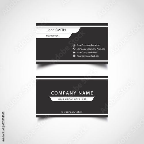 Simple business card template vector illustration eps file stock simple business card template vector illustration eps file flashek Gallery