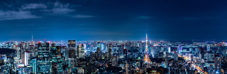 Photo sur Aluminium Batiment Urbain 東京の夜景
